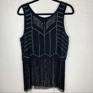 3 FOR $15! H&M Fringe Bedazzled Crop Top